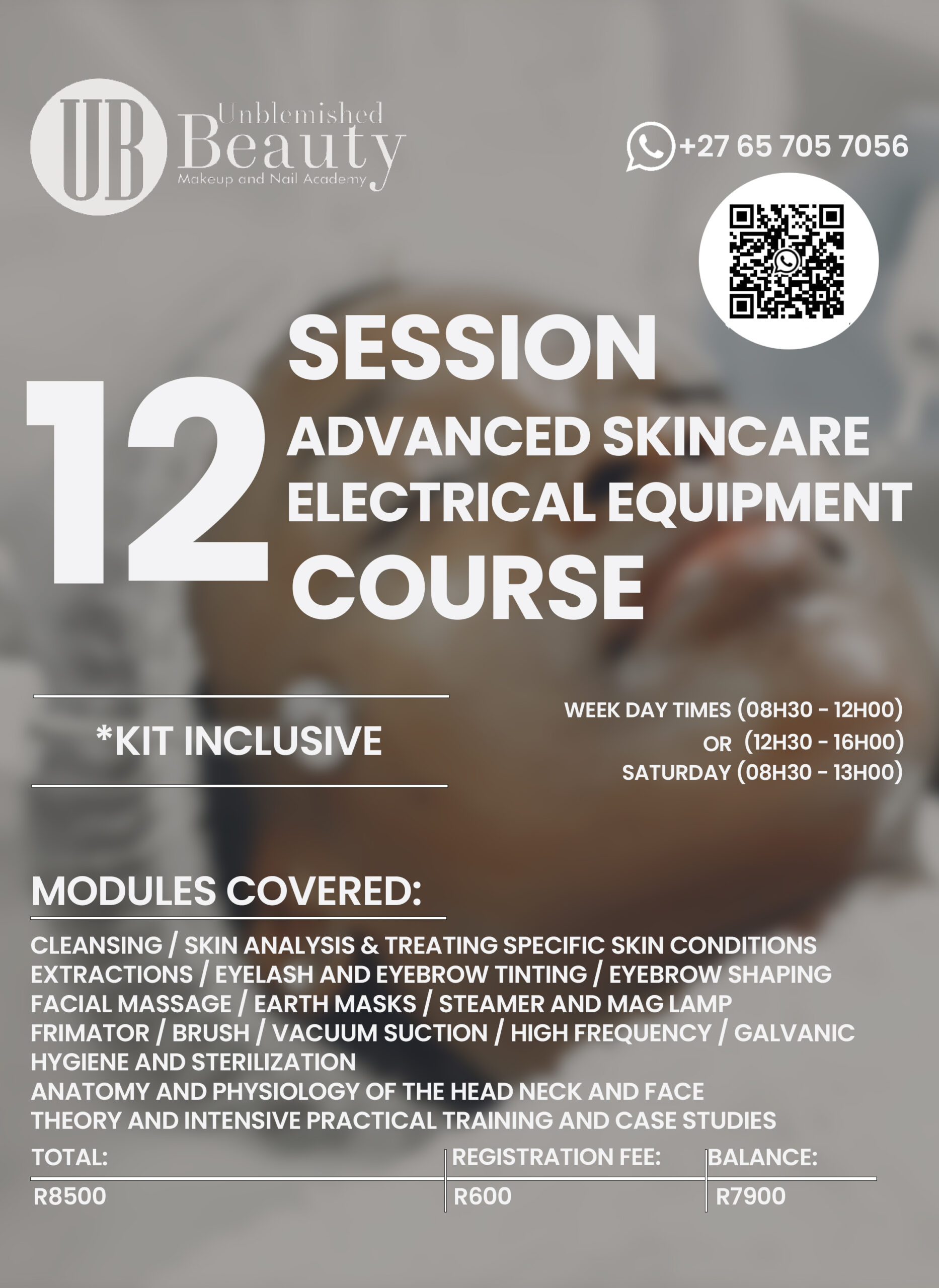 Unblemished Beauty Course Posters- Advanced Skincare Electrical Equipment 2