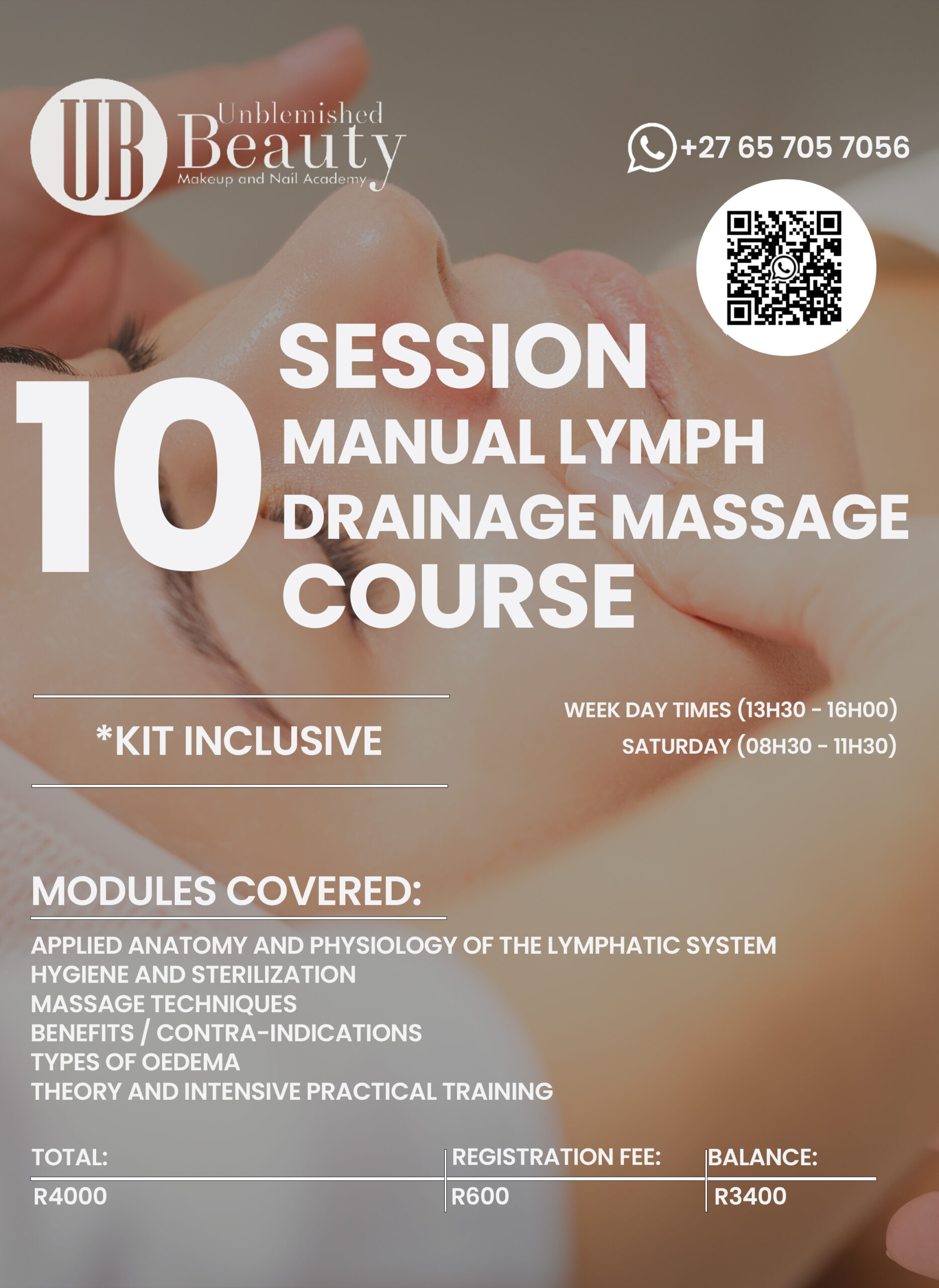 Unblemished Beauty Course Posters- Manual Lymph Drainage Massage 2