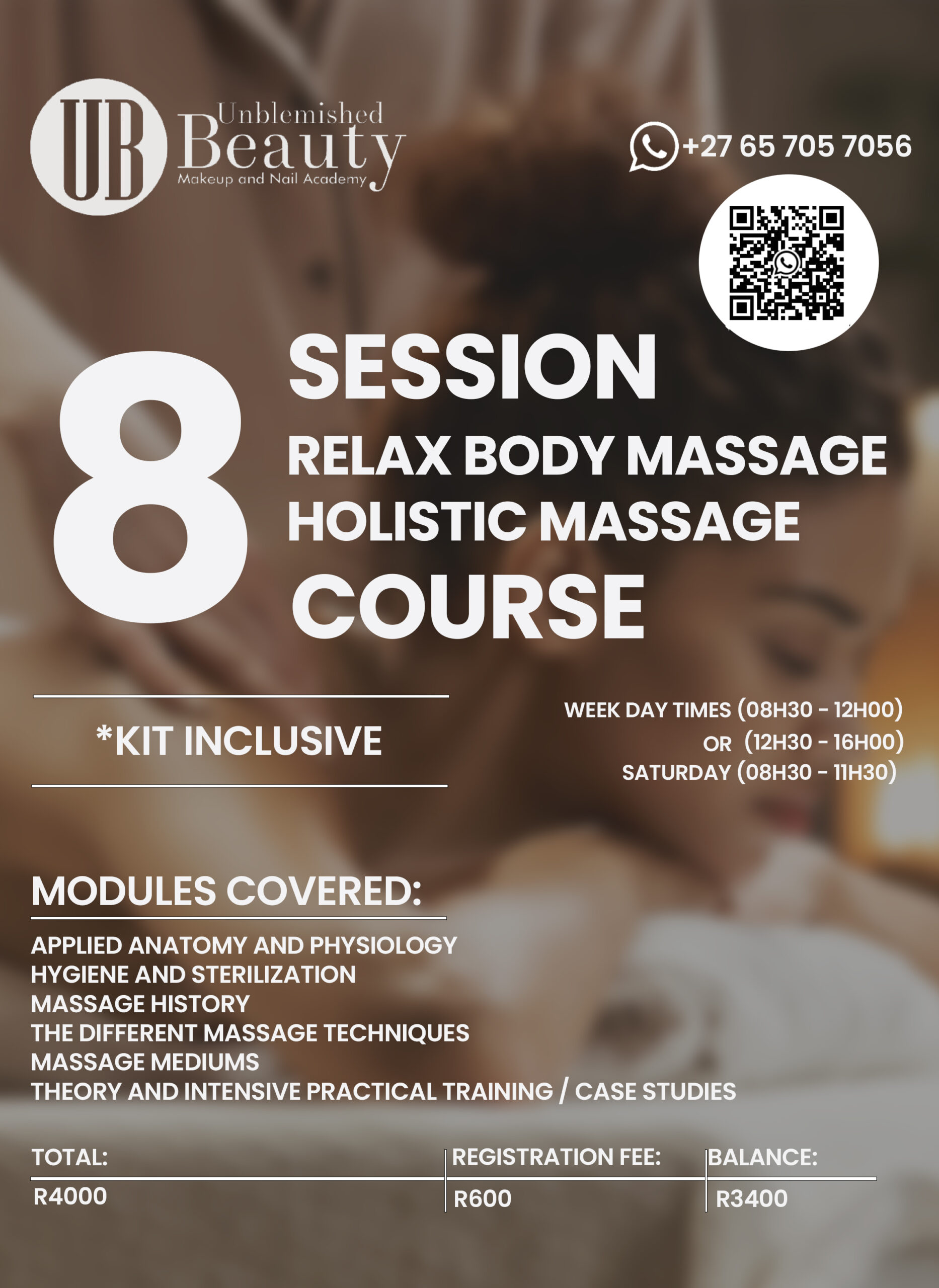 Unblemished Beauty Course Posters- Relax Body Massage Holistic Massage 2