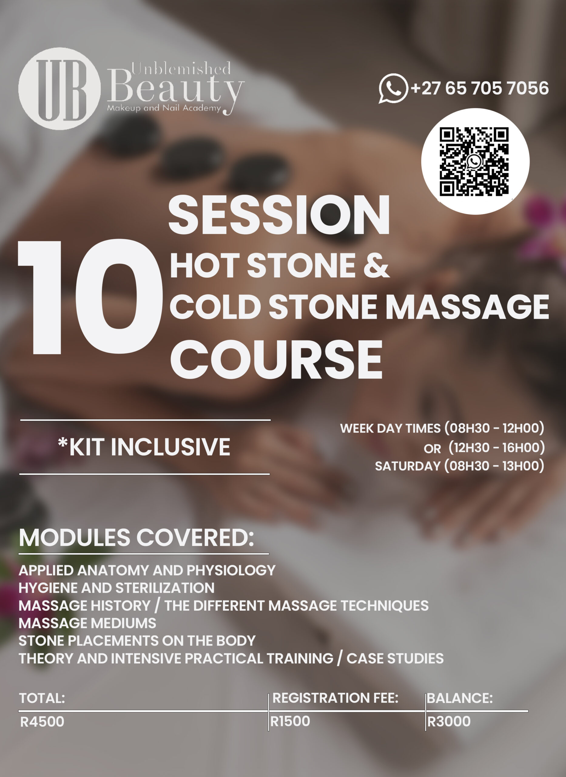 Unblemished Beauty Course Posters- Hot Stone Cold Stone Massage 2