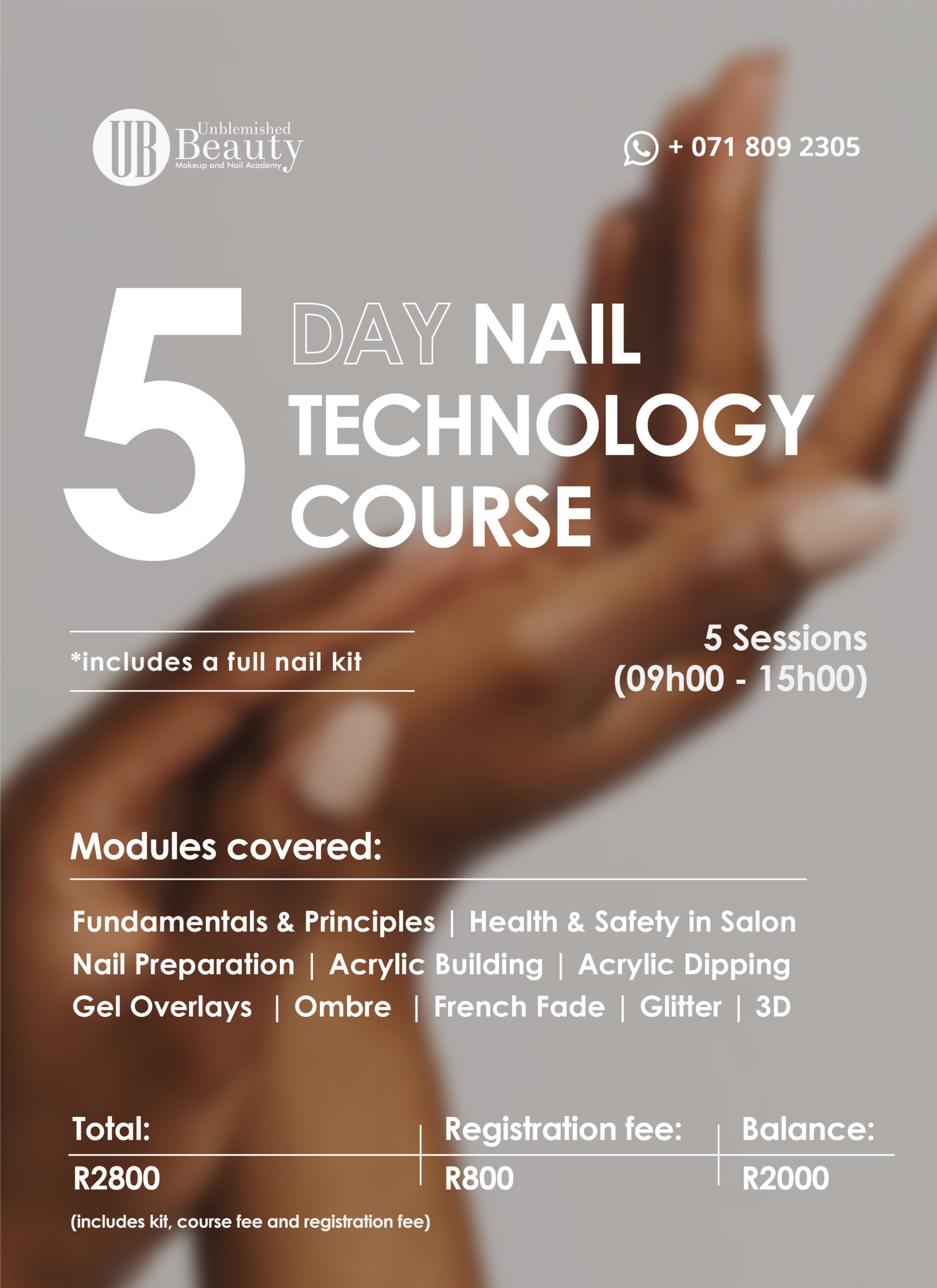 Unblemished Beauty Course Posters- Nail Tech Course Info